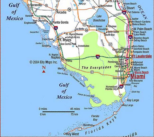 Hollywood location map broward county florida united for Acheter maison en floride usa